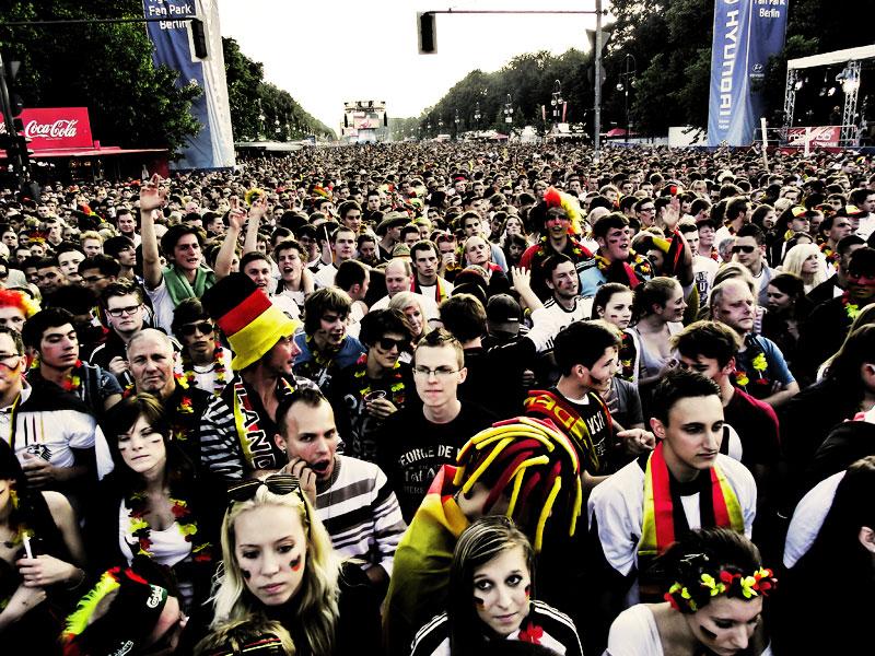 Die Fanmeile in Berlin EM 2012