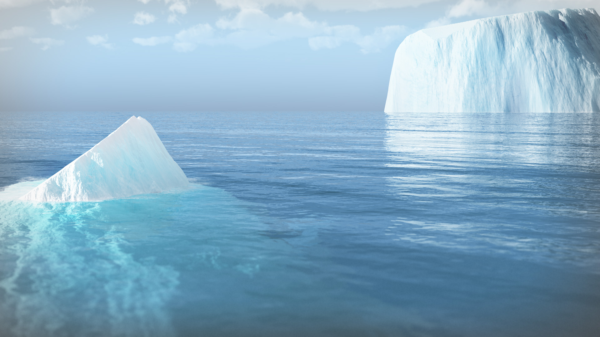 Iceberg in nowhere